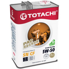 Масло моторное TOTACHI Grand Racing Fully Synthetic SN/CF Синтетика 5W50 4л